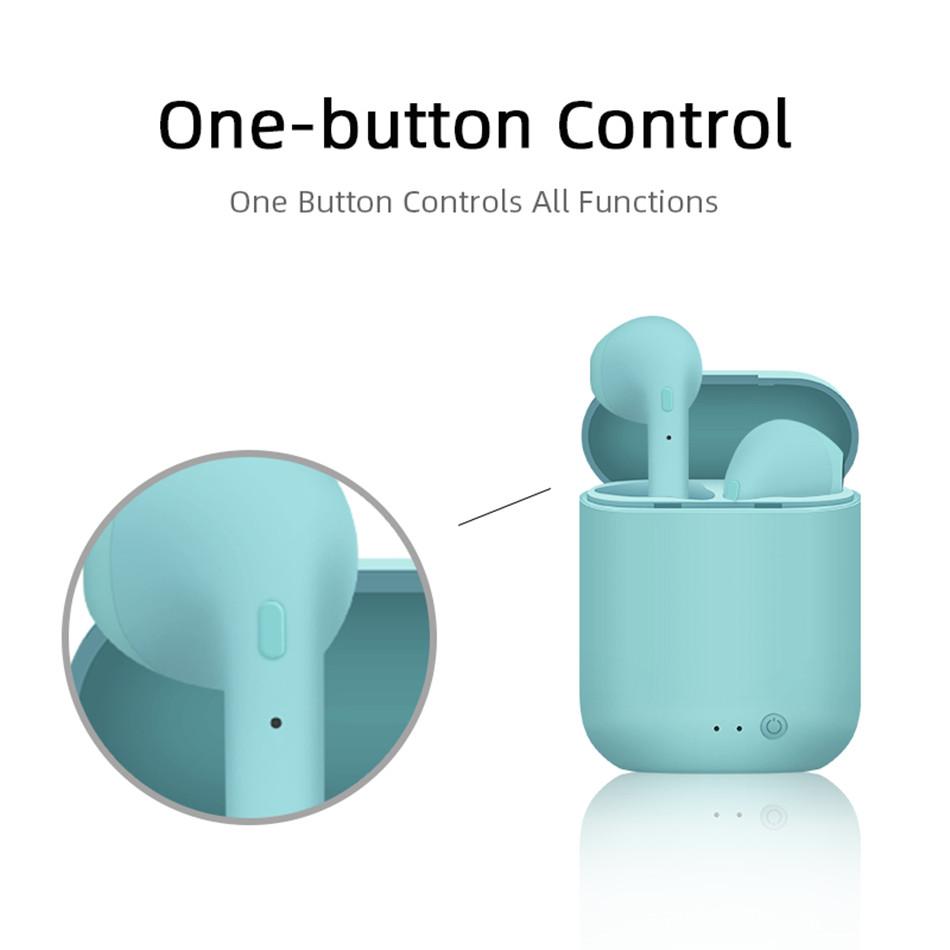Mini-2 TWS Wireless Earphones Bluetooth 5.0 Earphone TWS Matte Macaron Earbuds With Mic Charging Box Headset Wireless Headphones 5