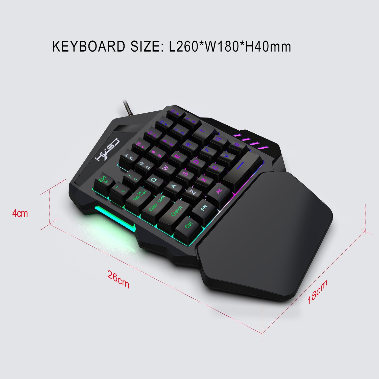 New Ergonomic Multicolor Backlight One-Handed Game Keyboard Mouse Set 35 Keys 5500DPI Gamer Gaming Mouse Keyboard Combos 5