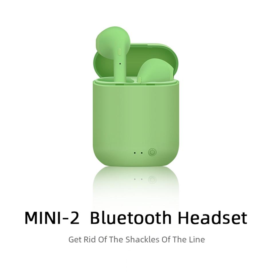 Mini-2 TWS Wireless Earphones Bluetooth 5.0 Earphone TWS Matte Macaron Earbuds With Mic Charging Box Headset Wireless Headphones 0