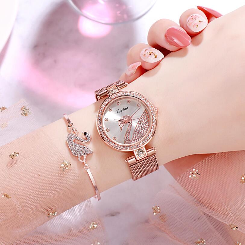 Watch women luxury watch women wrist watches for women gifts for women women watches luxury Simple five-piece watch set 3Bar 8