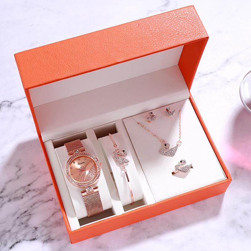 Watch women luxury watch women wrist watches for women gifts for women women watches luxury Simple five-piece watch set 3Bar 4