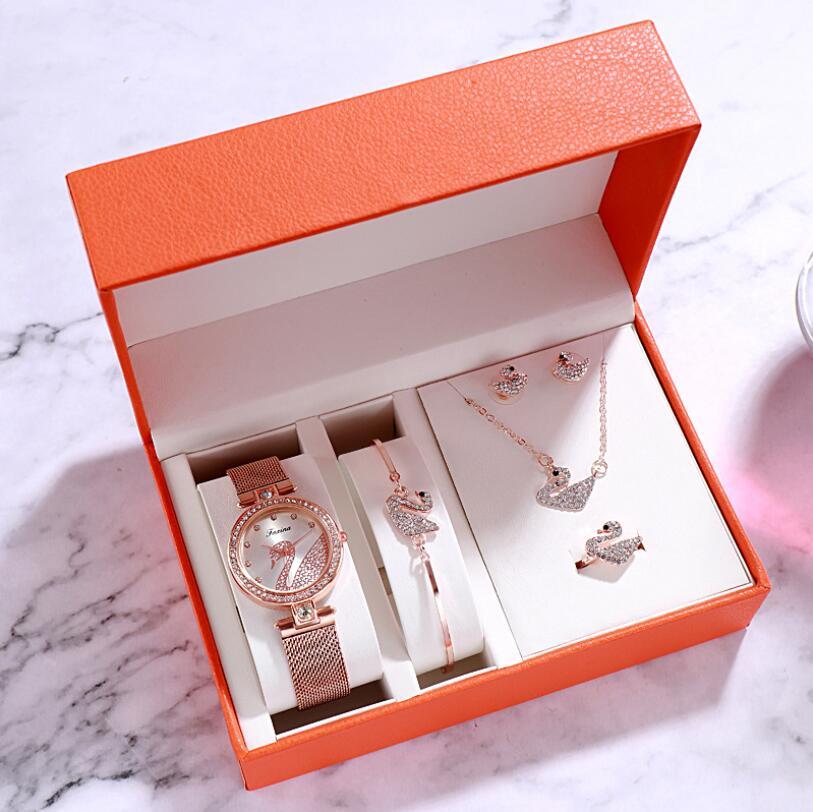Watch women luxury watch women wrist watches for women gifts for women women watches luxury Simple five-piece watch set 3Bar 1