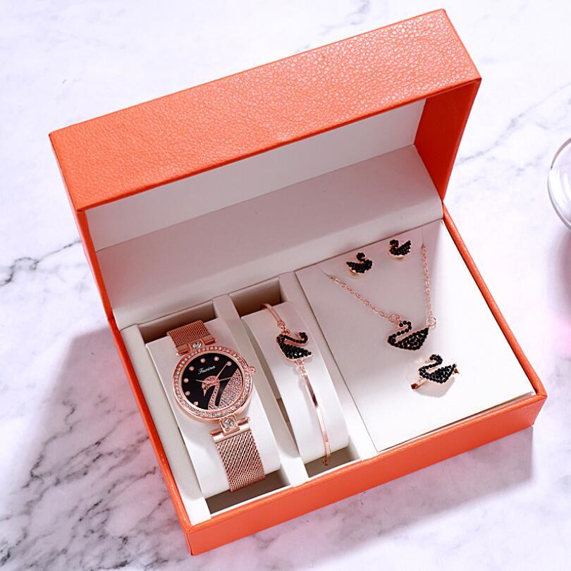 Watch women luxury watch women wrist watches for women gifts for women women watches luxury Simple five-piece watch set 3Bar 2
