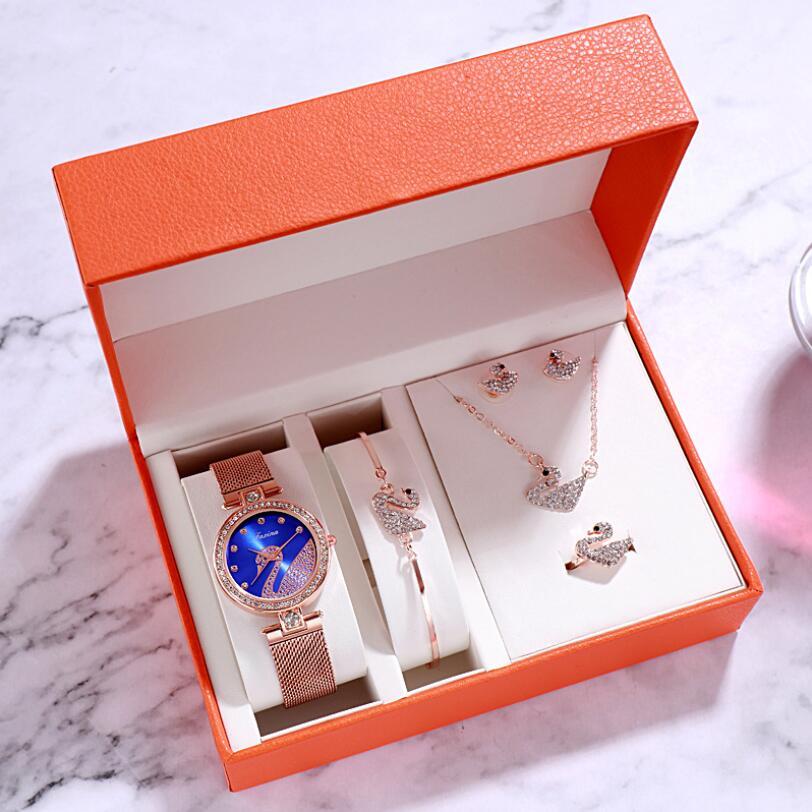 Watch women luxury watch women wrist watches for women gifts for women women watches luxury Simple five-piece watch set 3Bar 0