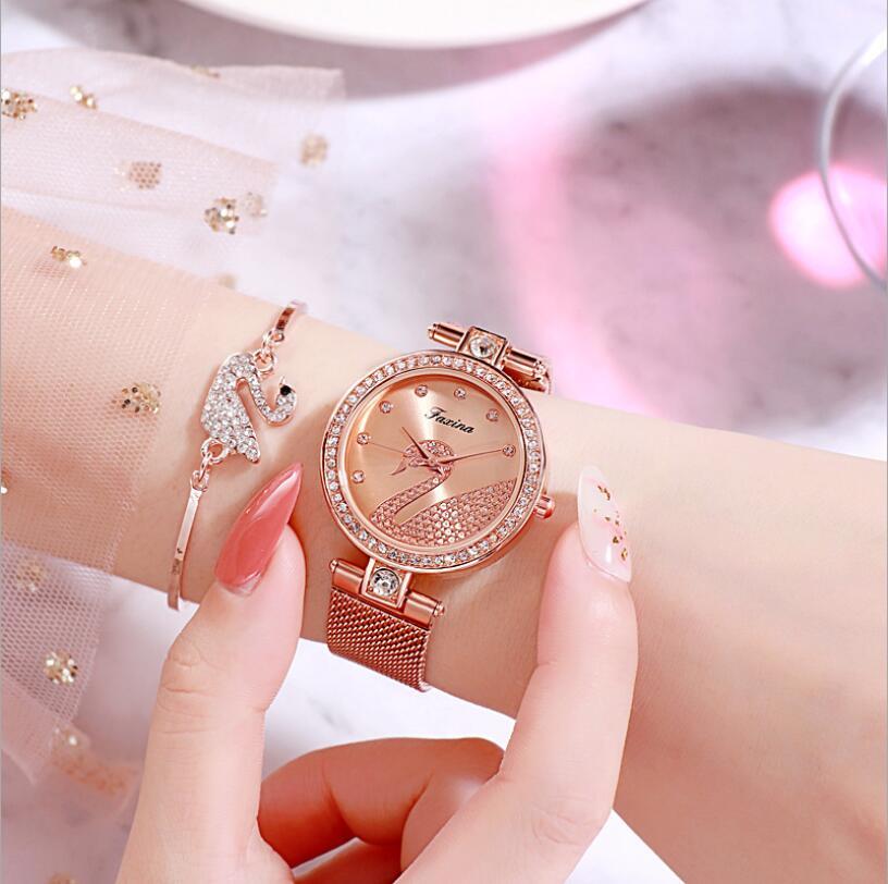 Watch women luxury watch women wrist watches for women gifts for women women watches luxury Simple five-piece watch set 3Bar 9