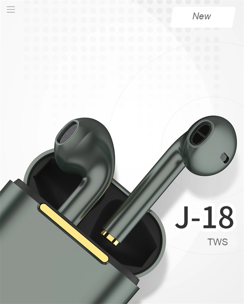 J18 TWS Bluetooth 5.0 Earphone Wireless Headphone 1:1 PK Air 2 with Pop-up Window HD Call HIFI Earpiece For Huawei Xiaomi IPhone 0