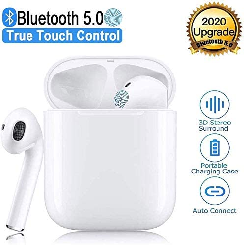 TWS i19 Earbuds Bluetooth 5.0 Earphones with HD Stereo Sound Touch-Control Pop-Up Connection Auto Pairing for Gaming Working Sports Exercise Travel Headsets Music with IPX7 Waterproof Earphones 0