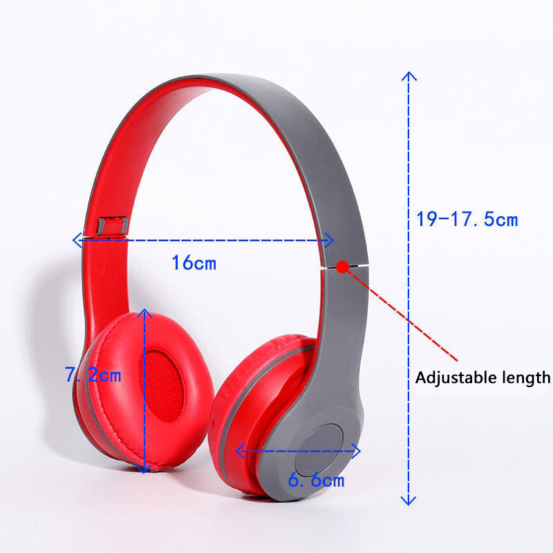 P47 9D HIFI Stereo Foldable Wireless Headphones Bluetooth Headset with mic support SD card For mobile xiaomi iphone sumsamg tablet 9
