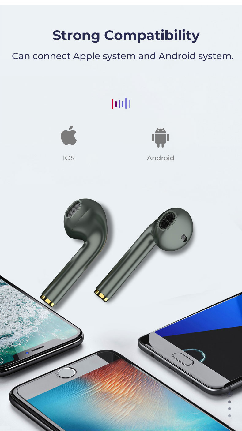 J18 TWS Bluetooth 5.0 Earphone Wireless Headphone 1:1 PK Air 2 with Pop-up Window HD Call HIFI Earpiece For Huawei Xiaomi IPhone 10