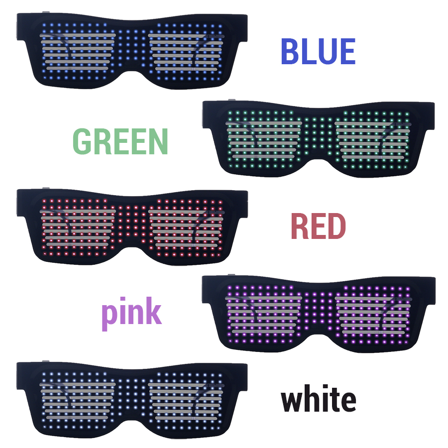 Magic Bluetooth Led Party Glasses APP Control Luminous Glasses EMD DJ Electric Syllables Party Eye Glasses 8