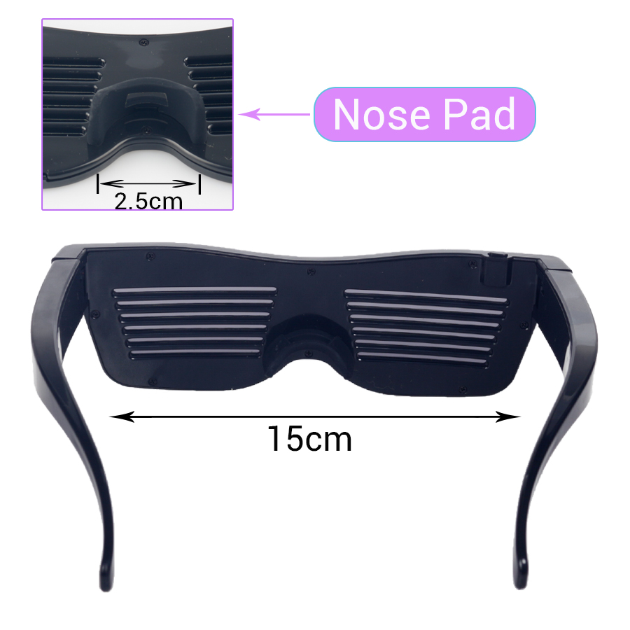 Magic Bluetooth Led Party Glasses APP Control Luminous Glasses EMD DJ Electric Syllables Party Eye Glasses 15