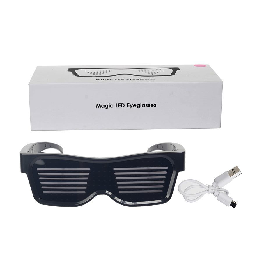 Magic Bluetooth Led Party Glasses APP Control Luminous Glasses EMD DJ Electric Syllables Party Eye Glasses 18