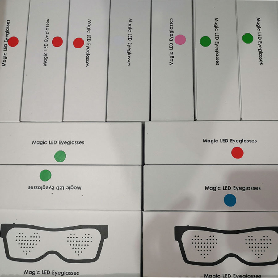 Magic Bluetooth Led Party Glasses APP Control Luminous Glasses EMD DJ Electric Syllables Party Eye Glasses 19