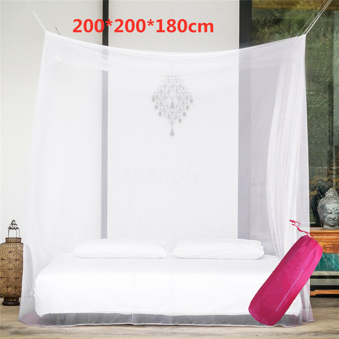200x200x180cm Travel Camping Mosquito Net Repellent Tent Insect Reject 4 Corner Post Canopy Bed Curtain Bed Tent Hanging Bed 3