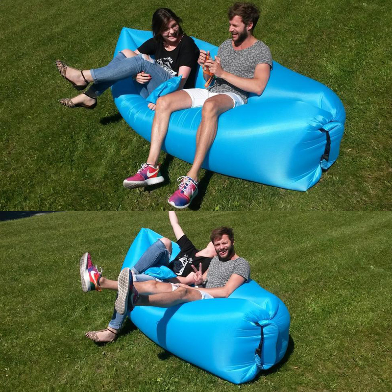 Inflatable Sofa Beach Camping Sleeping Air Sofa Lightweight Portable Folding Lazy Lounger Bed for Travel Picnic Outdoor 200x70cm 9