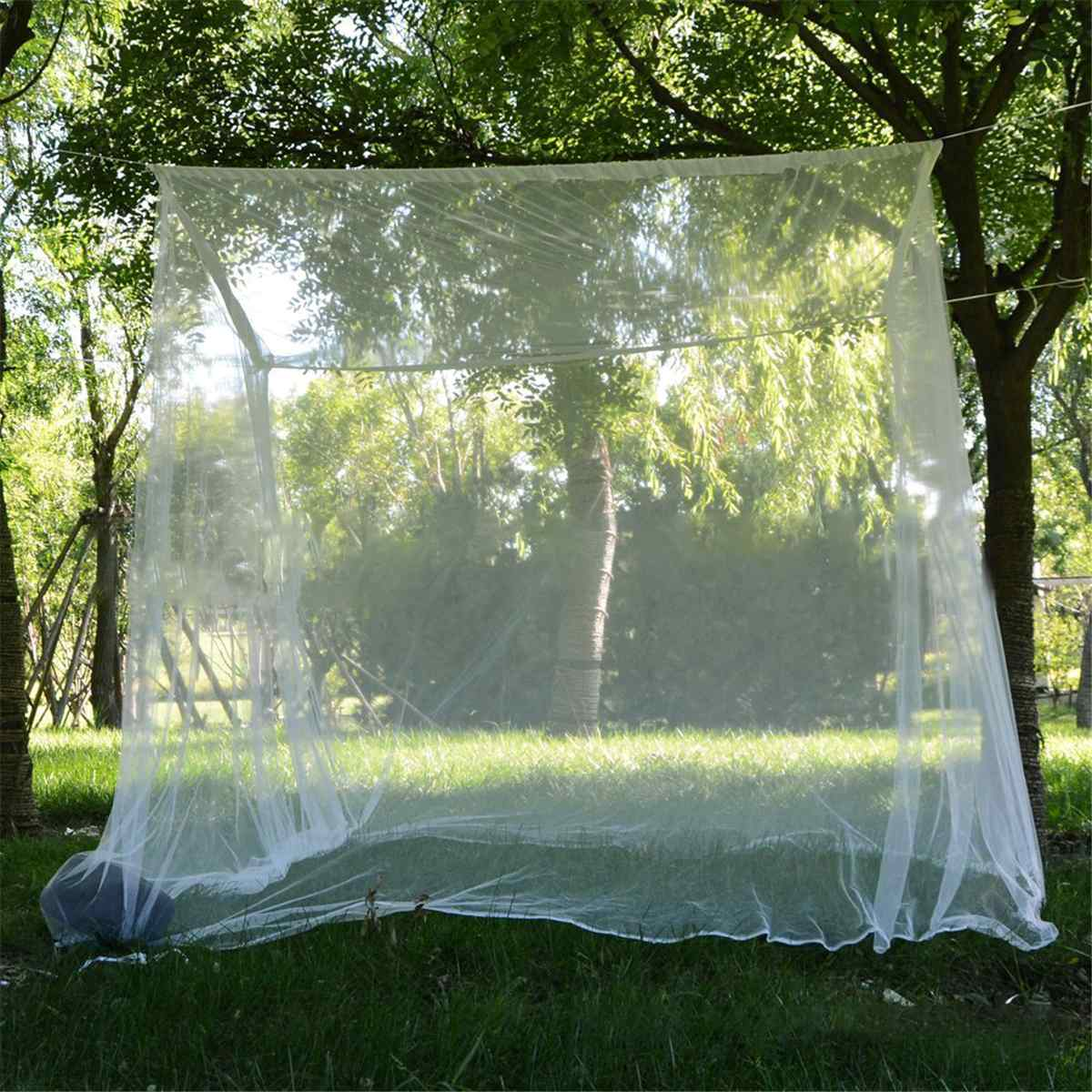 200x200x180cm Travel Camping Mosquito Net Repellent Tent Insect Reject 4 Corner Post Canopy Bed Curtain Bed Tent Hanging Bed 2