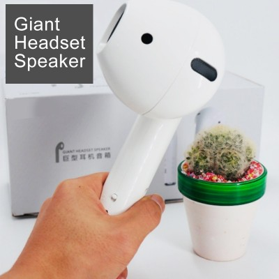 Giant Headset Speaker Bluetooth Earphone Mode Wireless Portable Speaker Music Loudspeaker Support FM Radio Mic TF Card AUX Cable
