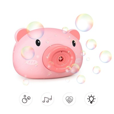 Automatic Funny Cute Cartoon Pig Camera Baby Bubble Machine Outdoor Automatic Maker Bubble Gifts for Kids and Girls