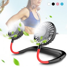 Mini USB Portable Fan Hands-free Neck Fan Rechargeable Battery Small Portable Sports Fan 2000mA Desk Hand Air Conditioner cooler