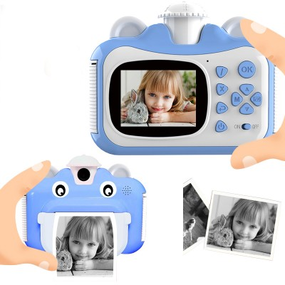Minibear Children Camera Instant Print Camera For Kids 1080P HD Camera With Thermal Photo Paper Toys Camera For Birthday Gifts