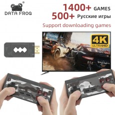 Data Frog USB Wireless Handheld TV Video Game Console Build In 1400 Classic Game 4K 8 Bit Mini Video Console Support HDMI Output