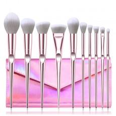 New 10Pcs Eye Makeup Brushes Set Eye Shadow Eyebrow Sculpting Power Brushes Facial Makeup Cosmetic Brush Tools