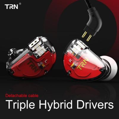 TRN V30 2BA+1DD Hybrid Earphone DJ IEM Monito Sport Earphone 3 Drive Earplug Headset 2Pin Detachable Trn HIFI Earphone