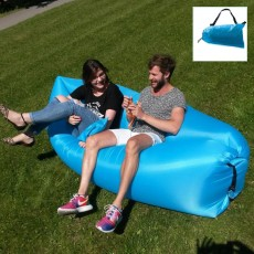 Inflatable Sofa Beach Camping Sleeping Air Sofa Lightweight Portable Folding Lazy Lounger Bed for Travel Picnic Outdoor 200x70cm