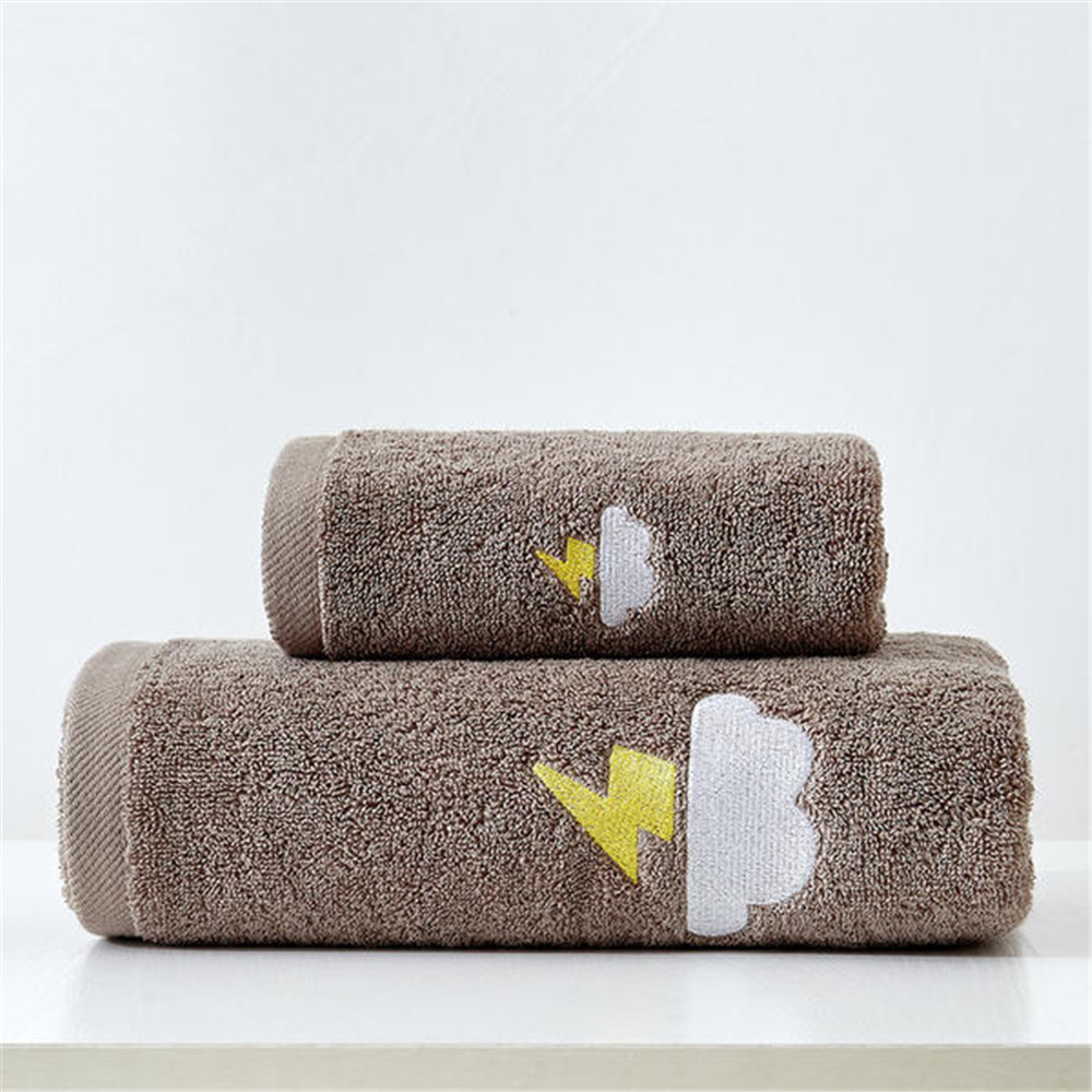 100% Cotton Towels Set Home Bath Towels for Adults Face Towel Thick Absorbent Luxury Bathroom Towels  2