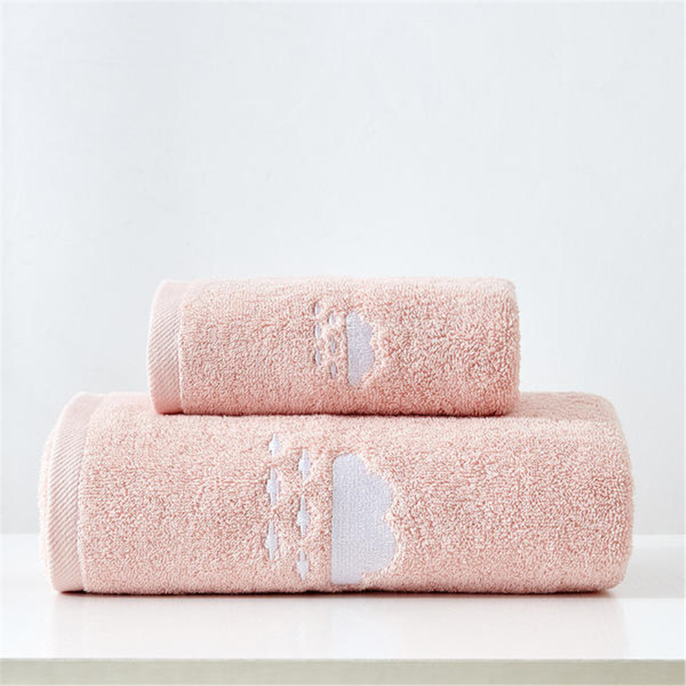 100% Cotton Towels Set Home Bath Towels for Adults Face Towel Thick Absorbent Luxury Bathroom Towels  4