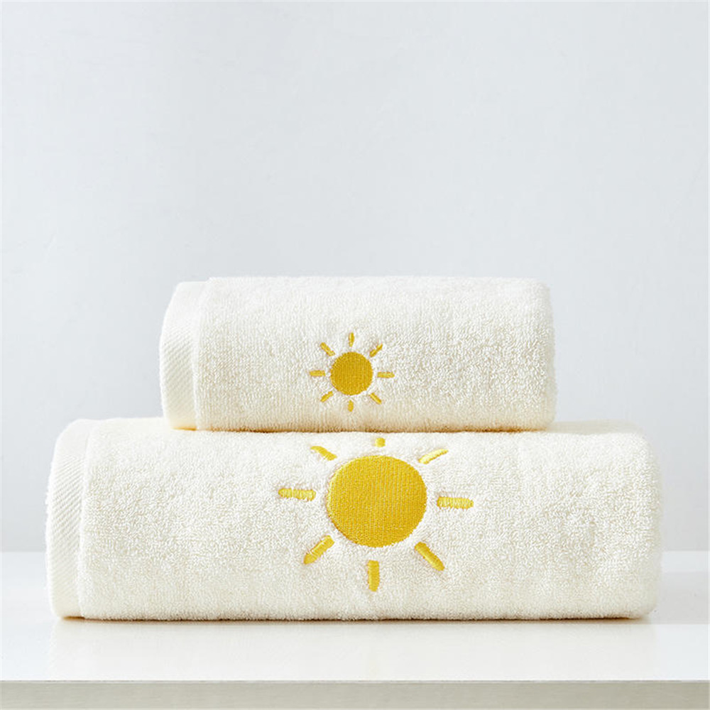 100% Cotton Towels Set Home Bath Towels for Adults Face Towel Thick Absorbent Luxury Bathroom Towels  3