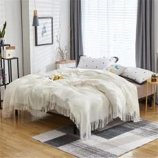 Cotton Gauze Towel Muslin Towel Blanket  Home Blanket With Tassel