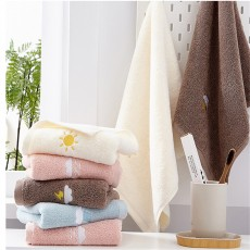 100% Cotton Towels Set Home Bath Towels for Adults Face Towel Thick Absorbent Luxury Bathroom Towels