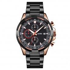 Men's multi-functional Quartz Wrist Watch fashionable sports small three needle steel strip waterproof watch  SKMEI-9192
