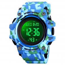 Kmei hot selling men's outdoor sports electronic watch large dial camouflage multifunctional student Watch