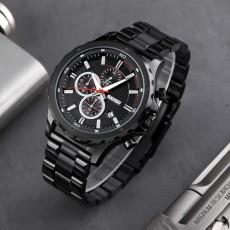 Fashion sports big Dial Men's quartz watch origin source of goods multi function small three needle steel band Watch