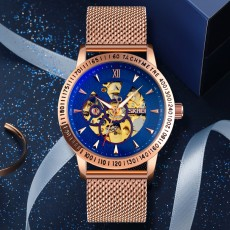 New style hollow men's Automatic Wrist Watch Stainless Steel with luminous fashion waterproof watch
