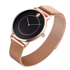 Men's fashion quartz watch magnetic suction stainless steel mesh band waterproof simple couple Watch