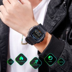 Square camouflage outdoor electronic watch