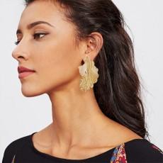 Gold earrings Bohemian Earrings Indian jewelry women's Retro Big Circle Earrings E4672