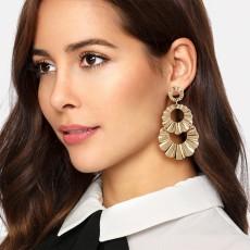 Fashion jewelry trend simple ring knot irregular metal Earrings geometric long earrings E4696