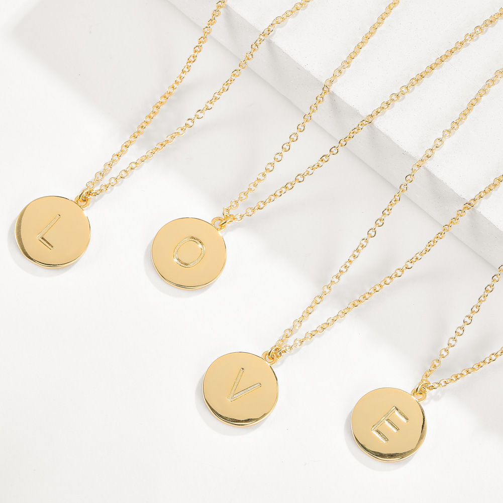 Fashion letters Pendant necklace Gilded 0