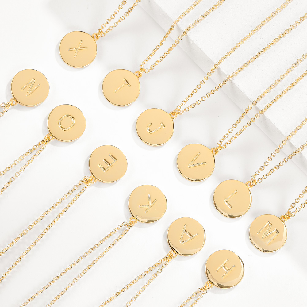 Fashion letters Pendant necklace Gilded 1