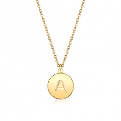Fashion letters Pendant necklace Gilded