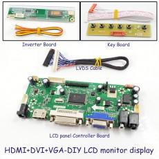 LCD panel Controller Board LVDS panel NT68676 HDMI+DVI+VGA DIY LCD monitor display