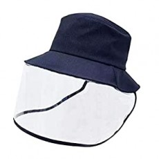 Protective Bucket Hat with Safety Face Shield, Full-face Protection Anti Saliva Fog Dust UV Sun Hat