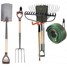 Garage Hooks, Sunda 10 Pcs Heavy Duty Steel Garage Storage Hooks, Wall Mount Assorted Utility Hooks, Double U Hook for Organizing Power Tools, Ladders