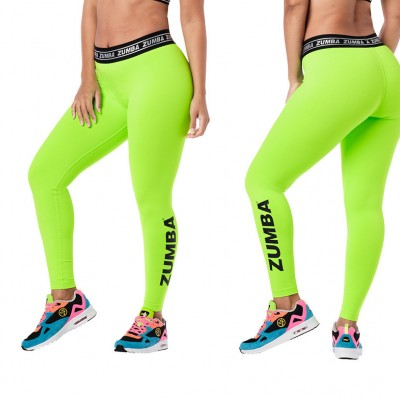 Women dancing wear zumbafitness clothes Zumba glow ankle leggings z1b01055