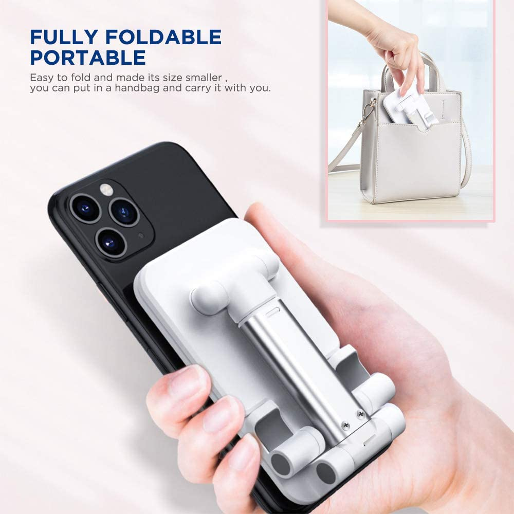 Universal Angle Height Adjustable Tablet Phone Holder Desk For Cell Phone/iPhone/Laptop Table Stand Foldable Desk Mobile Phone Holder Stand 5