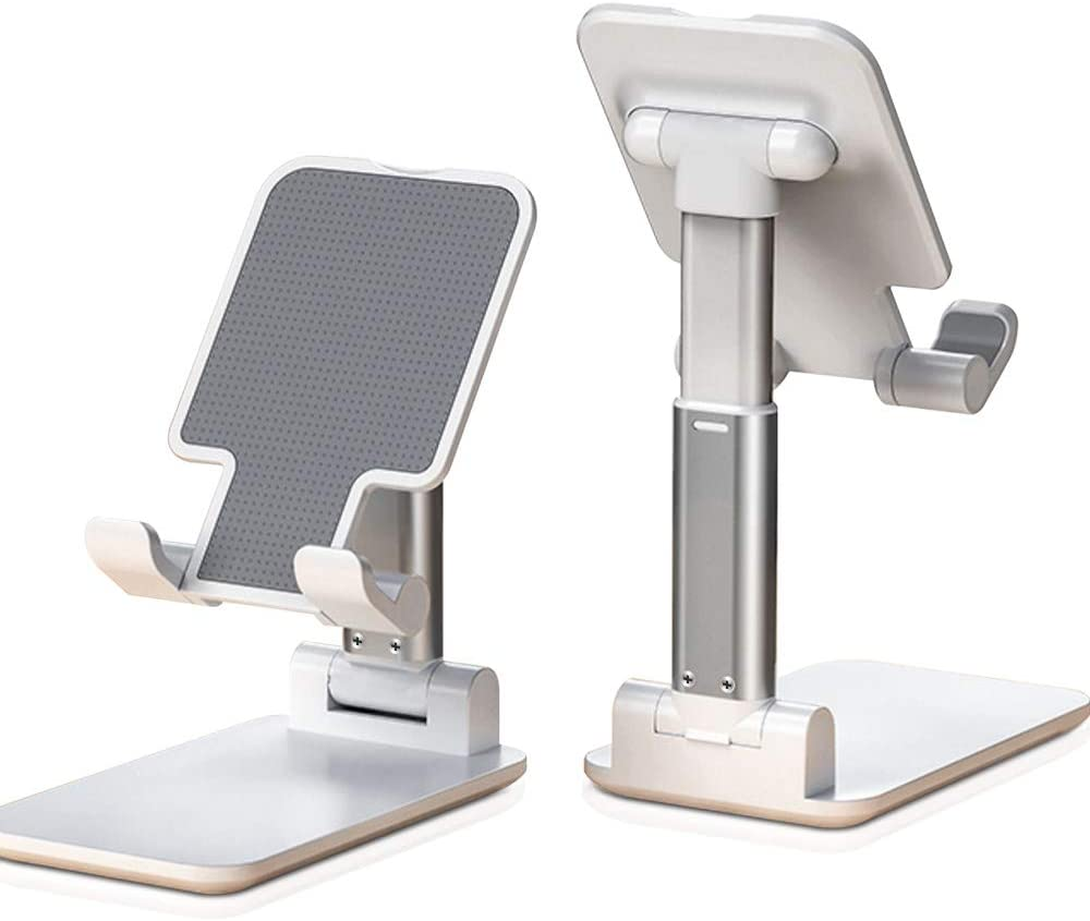 Universal Angle Height Adjustable Tablet Phone Holder Desk For Cell Phone/iPhone/Laptop Table Stand Foldable Desk Mobile Phone Holder Stand 4